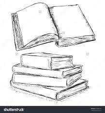 vector sketch ilration open book and stack of books this stock vector and explore similar vectors at adobe stock