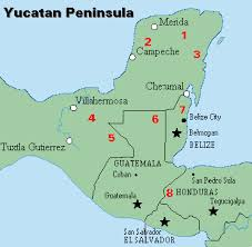 from the jungle to the sea expedition belize map Mayan Cities Map major mayan cities mayan city map