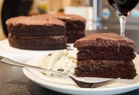 chocolate fudge cake slice. Perfect Chocolate Inside Chocolate Fudge Cake Slice C