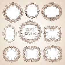 Vintage frame design oval Clip Art Vector Ornate Design Oval Set Of Ornate Vintage Frames Round Oval And Square Vector Clipart Sohad Acouri Set Of Ornate Vintage Frames Round Oval And Square Vector Clipart