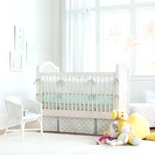 striped crib bedding french gray and mint boy