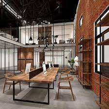 industrial look office interior design. Minimalist Style Office Interior Design Renderings, Industrial Rendering , Professional Company Look
