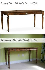 DIY Pottery Barn Inspired Desk | The Borrowed Abode
