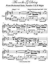 bach sheet music piano air on the g string js bach intermediate piano sheet music kindle
