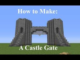 minecraft gate. Simple Gate Minecraft  How To Build A Castle Gate Fast And Easy For YouTube