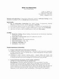 For 5 Years Experience In Testing 3 Resume Format Resume