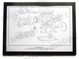 tvr ford cologne v6 engine diagram schematic framed print a2 a3 size tvr ford cologne v6 engine diagram schematic framed print a2 a3 size poster