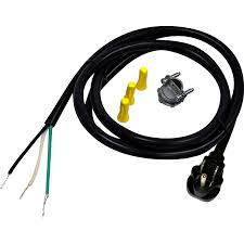 Whirlpool 6-ft 4-Wire Black Dishwasher Appliance Power Cord