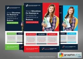 tri fold school brochure template school education flyer template a free download v with school free