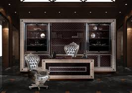 luxury office desks. Table Luxury Office Desk President Idfdesign Decoration Manager Classic Style Chair Silver Shelf Drawer Windows Top Carpet Grey Black Desks A