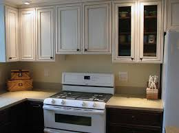 image of how to glaze oak kitchen cabinets