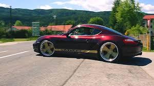 Widebody Porsche Cayman S - brutal exhaust sound and launch ...