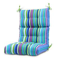 high back solid dining chair cushion
