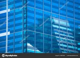 office backdrop. Of Modern Design Skyscraper Office Buildings In City Business Centre, Mirror Reflection Futuristic Window Surface Pattern Backdrop And Copy Space.