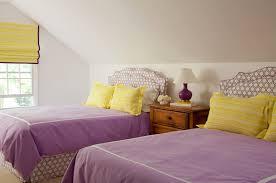 Purple And Yellow Girlsu0027 Bedroom