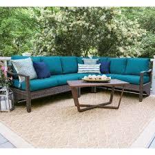 augusta 5 piece wicker outdoor sectional