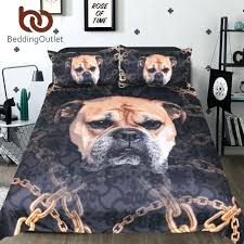 dog toddler bedding sets bulldog set for kids printed duvet cover with pillowcase bed animal boxer dog comforter set modal cotton animal
