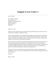 Sample Resume Cover Letters For Social Workers Save Covor Letter New