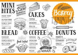 Free Food Menu Template Amazing Bakery Menu Restaurant Food Template Stock Vector Illustration