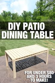 easy diy outdoor dining table. how to build a patio dining table easy diy outdoor