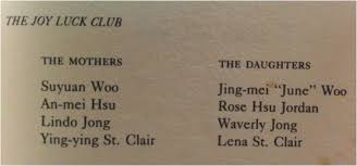 joy luck club reyoflight i could only remember the little parts of the stories told by 4 characters in the plot