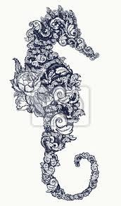 Fototapeta Mořské Koně Tetování A Design Trička Symbol Cestování Svoboda