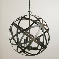 orb black chandelier with regard to contemporary home iron globe chandelier designs