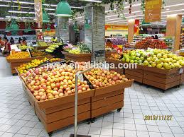 Fruit And Veg Display Stands Beauteous Supermarket Vegetable Stands For Salevegetable Fruits Shelves View