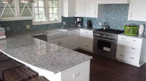 colonial white granite mosaic glass tile backsplasheclectic kitchen atlanta