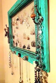 jewelry hanging ideas jewelry hanging organizer decoration necklace holder frame jewelry hanger wall hanging organizer display