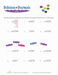 Dividing Decimals | Worksheet | Education.comFifth Grade Decimals Division Worksheets: Dividing Decimals