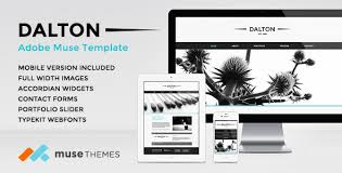 Muse Website Templates Interesting Dalton Premium Adobe Muse Template By MuseThemes ThemeForest