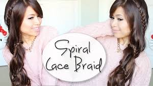 Lace Hair Style how to carousel lace braid hairstyle for long hair tutorial youtube 2537 by wearticles.com