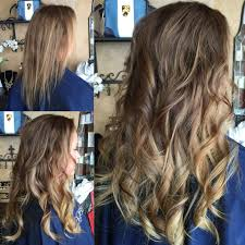 hair stylist specializing in thin hair fresh 14inch extensions on fine thin hair before and after