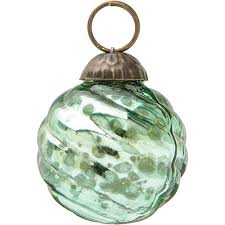 mini vintage green mercury glass ornament swirl design hanging ornaments decorations and supplies wedding essentials wedding favors party