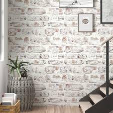 faux brick wallpaper brick effect