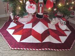 Christmas Tree Skirt Pattern New Make A Bethlehem Star Quilt Quilts Pinterest Tree Skirts