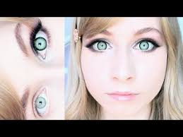 cute makeup tutorial big dolly eyes