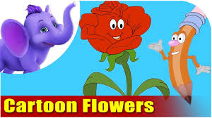 picture of cartoon flowers. Contemporary Cartoon Learn How To Draw Cartoon Flowers  The Fun And Easy Way Vol1 In Picture Of N