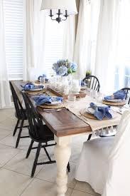 White and Blue Coastal Table | Starfish Cottage