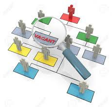 3d Magnifying Glass Looking For Vacant Position In Organizational