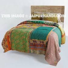 Vintage Kantha Patchwork Quilt Blanket Throw Queen Bedding & ... Vintage Kantha Patchwork Quilt Blanket Throw Queen Bedding-Jaipur  Handloom ... Adamdwight.com
