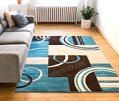 blue circles rug echo shapes circles blue brown modern geometric comfy casual hand carved area rug