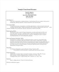 Sample Of Banking Resume Functional Bank Teller Resume Template