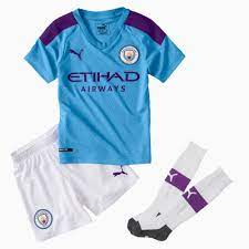 Man City Kids' Home Replica Mini Kit | PUMA Manchester City Collection