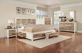 Solid Wood Bedroom Furniture With Scratched, Wooden Furniture Vietnam  Bedroom 11