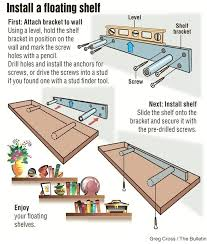 install floating shelf interior projects shelves installation project is remarkably simple inexpensive mounting