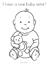 Baby Coloring Page Squirrel And Baby Coloring Page Baby Girl