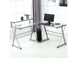 Acrylic office desk Glass Shelf Clear Mansiehtsichclub Clear Computer Desk Acrylic Office Desk And Black Chair On Blue