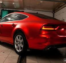 audi a7 2014 red. audi a7 matte chrome car vinyl wrapping red 2014